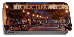 Fort Worth Stock Yards Night Portable Battery Charger