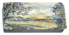 Forth Rail Bridge Edinburgh In Scotland Portable Battery Charger