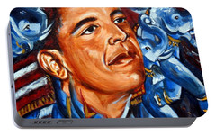 Portable Battery Charger featuring the painting Forward by Harsh Malik