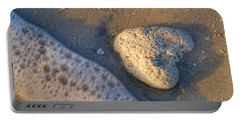Portable Battery Charger featuring the photograph Found Heart by Peggy Hughes