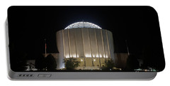 Founders Hall At Night Portable Battery Charger by Mark Dodd