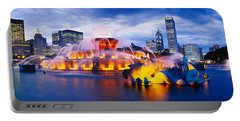 Fountain Lit Up At Dusk, Buckingham Portable Battery Charger by Panoramic Images