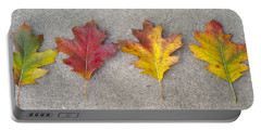Four Autumn Leaves Portable Battery Charger
