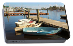 Portable Battery Charger featuring the photograph Four Boats  by Cynthia Guinn