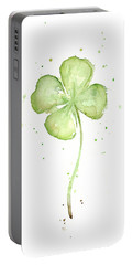 Four Leaf Clover Lucky Charm Portable Battery Charger