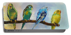 Four Parakeets Portable Battery Charger