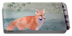 Fox And Birch Portable Battery Charger by Laurel Best