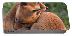 Fox Cubs Cuddle Portable Battery Charger