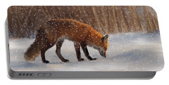 Fox In The Snow Portable Battery Charger