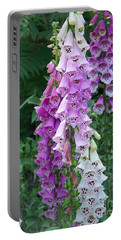 Foxglove After The Rains Portable Battery Charger by Eunice Miller
