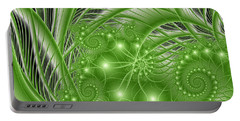 Fractal Abstract Green Nature Portable Battery Charger