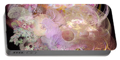 Fractal Feathers Pink Portable Battery Charger