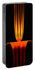 Portable Battery Charger featuring the digital art Fractal Flame by GJ Blackman