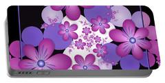 Fractal Flowers Modern Art Portable Battery Charger
