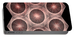 Fractal Fusion Hw Equals Mc Squared Portable Battery Charger by Jason Padgett