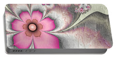 Fractal Nostalgic Flowers 2 Portable Battery Charger