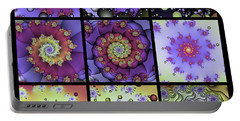 Fractal Quilt 8  Portable Battery Charger