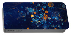 Portable Battery Charger featuring the digital art Fractal Soapbubbles - Abstract In Blue And Orange by Menega Sabidussi