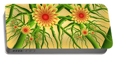 Fractal Summer Pleasures Portable Battery Charger