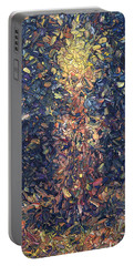Portable Battery Charger featuring the painting Fragmented Flame by James W Johnson