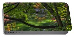 Framed Bridge -  Nishinomiya Japanese Garden Portable Battery Charger