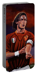 Francesco Totti Portable Battery Charger by Paul Meijering