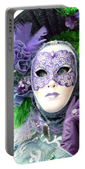 Portable Battery Charger featuring the photograph Francine's Purple Glove by Donna Corless