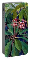 Frangipani Portable Battery Charger by Susan Duda