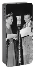 Frank Sinatra And Ann Sheridan Portable Battery Charger by Underwood Archives