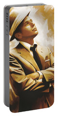 Frank Sinatra Artwork 1 Portable Battery Charger by Sheraz A