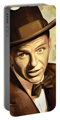 Frank Sinatra Artwork 2 Portable Battery Charger by Sheraz A