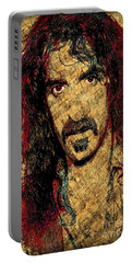 Portable Battery Charger featuring the photograph Frank Zappa by Gary Keesler