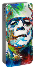 Frankenstein Art - Colorful Monster - By Sharon Cummings Portable Battery Charger