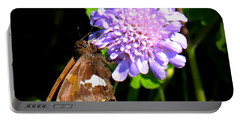Silver Spotted Skipper Portable Battery Charger by Patti Whitten