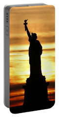 Statue Of Liberty Silhouette Portable Battery Charger