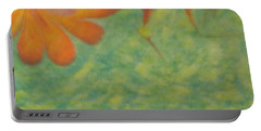 Portable Battery Charger featuring the painting Freedom by Mike Breau