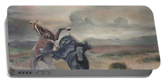 Portable Battery Charger featuring the painting Freedom by Sorin Apostolescu