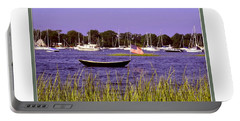 Portable Battery Charger featuring the photograph Freedom Bristol Harbor Ri by Tom Prendergast