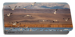 Portable Battery Charger featuring the photograph Freeze Out Lake Morning by Jack Bell