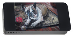 french Bull dog Portable Battery Charger by Peter Suhocke