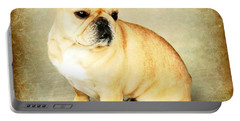 Portable Battery Charger featuring the photograph French Bulldog Antique by Barbara Chichester
