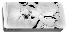 Portable Battery Charger featuring the painting French Bulldog by Barbara Chichester