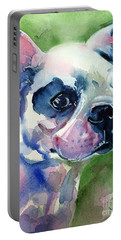 French Bulldog Painting Portable Battery Charger