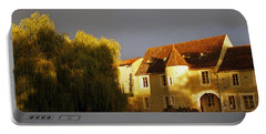 French House At Sunset Portable Battery Charger