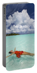 French Polynesia Woman Floating Portable Battery Charger