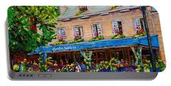 French Restaurant Jardin Nelson Paris Style Bistro Place Jacques Cartier Terrace Garden C Spandau   Portable Battery Charger
