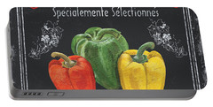 French Vegetables 3 Portable Battery Charger by Debbie DeWitt