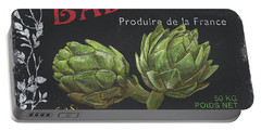 French Veggie Labels 1 Portable Battery Charger by Debbie DeWitt