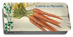 French Veggie Sign 2 Portable Battery Charger by Debbie DeWitt