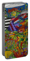 Frenzy Portable Battery Charger by Rojax Art